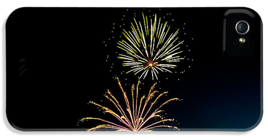 Fireworks IPhone 5 Case featuring the photograph Double Fireworks Blast by Robert Bales