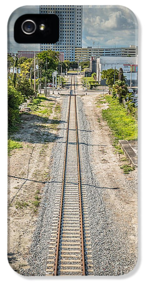 America IPhone 5 Case featuring the photograph Down The Tracks - Downtown Miami by Ian Monk