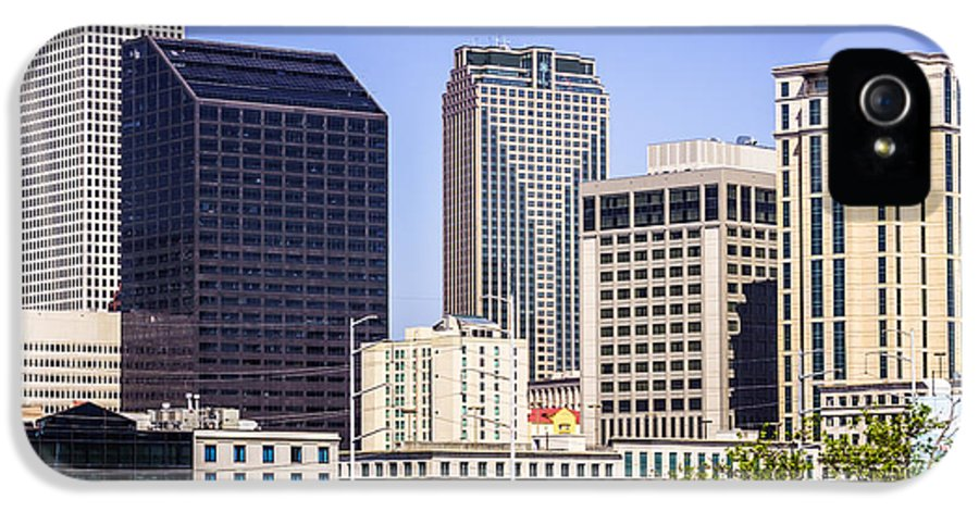 America IPhone 5 Case featuring the photograph Downtown New Orleans Buildings by Paul Velgos