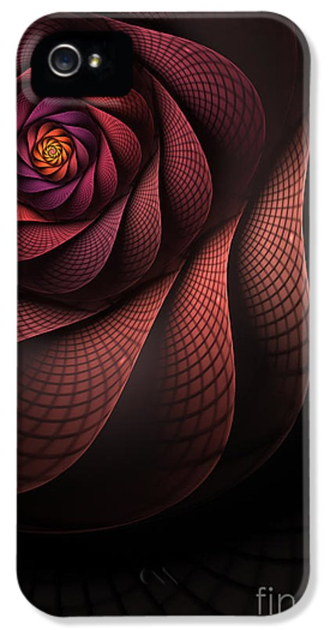 Heart Of The Dragon IPhone 5 Case featuring the digital art Dragonheart by John Edwards