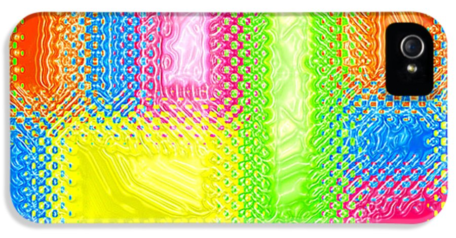 Abstract IPhone 5 Case featuring the digital art Drastic Plastic by Cristophers Dream Artistry