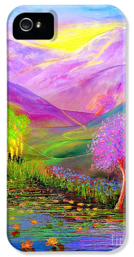 Lake IPhone 5 Case featuring the painting Dream Lake by Jane Small