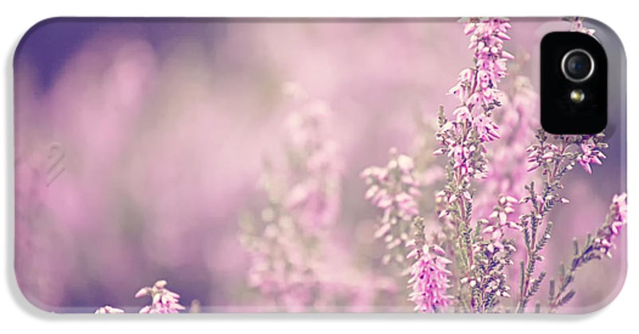 Pink IPhone 5 Case featuring the photograph Dreamy Pink Heather by Natalie Kinnear