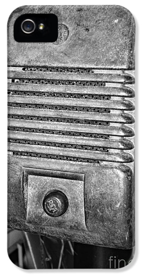 Paul Ward IPhone 5 Case featuring the photograph Drive In Movie Speaker In Black And White by Paul Ward