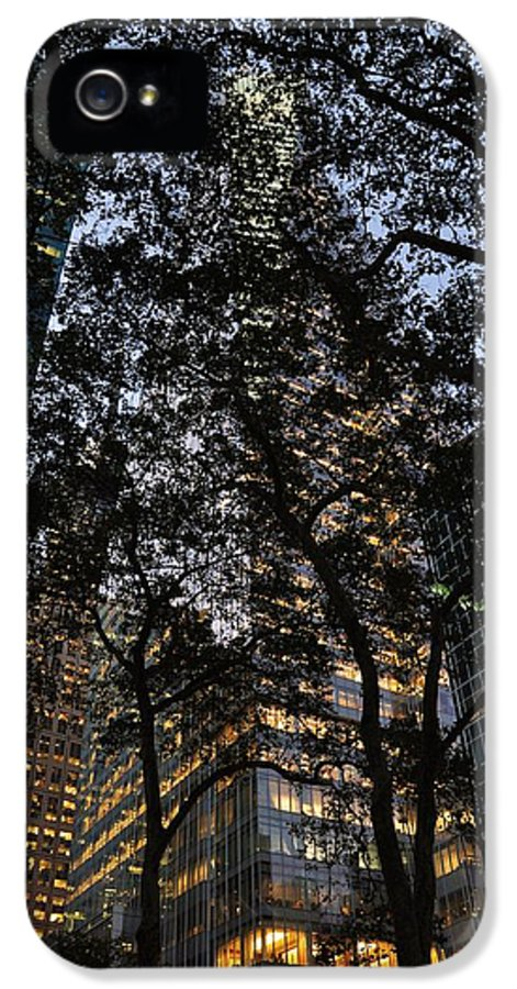 Bryant Park IPhone 5 Case featuring the photograph Dusk In Bryant Park by Sherri Quick