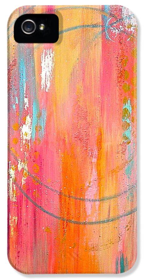 Dynamic Connection IPhone 5 Case featuring the painting Dynamic Connection by Debi Starr