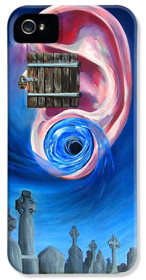Surrealism IPhone 5 Case featuring the painting Ear To Hear by Beth Smith