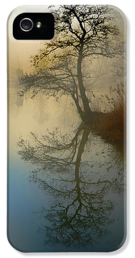 Silence IPhone 5 Case featuring the pyrography Early Morning by manhART