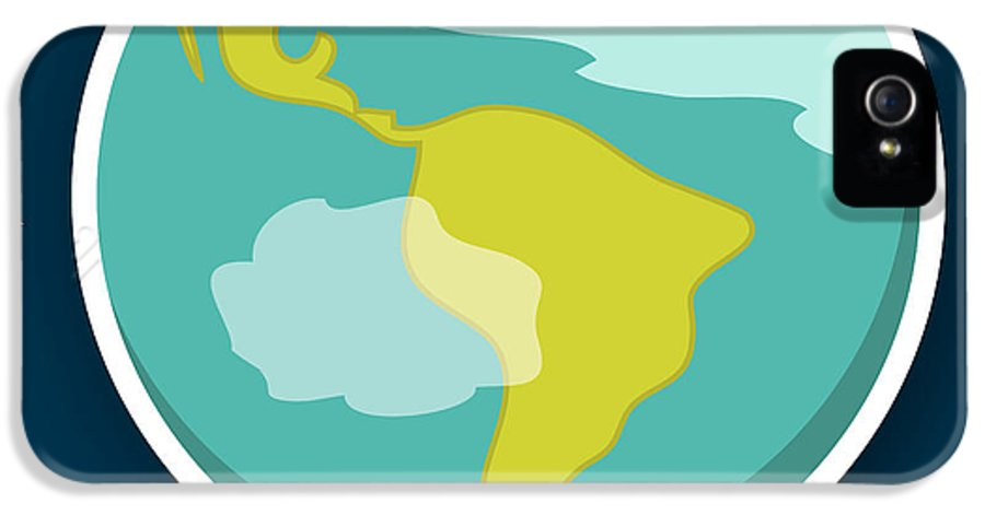 Earth IPhone 5 Case featuring the drawing Earth by Christy Beckwith