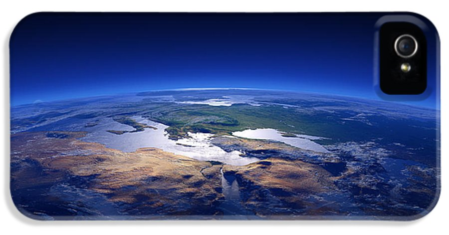 Earth IPhone 5 Case featuring the photograph Earth - Mediterranean Countries by Johan Swanepoel