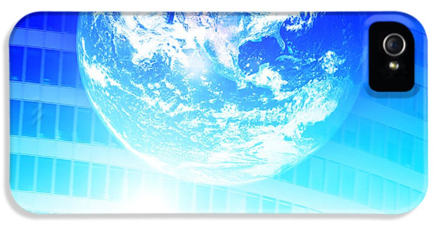 Abstract IPhone 5 Case featuring the photograph Earth Technology Background by Michal Bednarek
