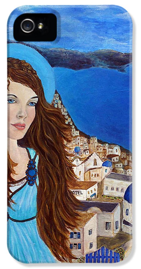 Angel IPhone 5 Case featuring the painting Earthangel Athena by The Art With A Heart By Charlotte Phillips
