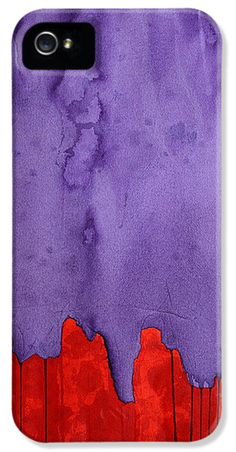 West IPhone 5 Case featuring the painting Edge Of The West Original Painting by Sol Luckman