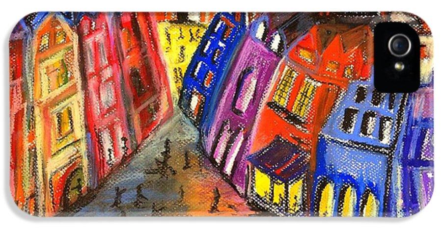 Edinburgh IPhone 5 Case featuring the drawing Edinburgh's Royal Mile by Karen Larter