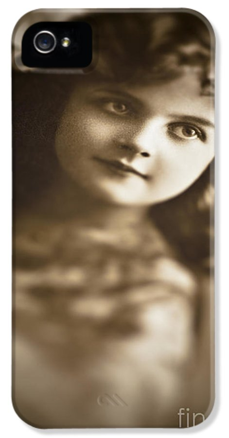 Child IPhone 5 / 5s Case featuring the photograph Edwardian Young Girl by Jan Bickerton