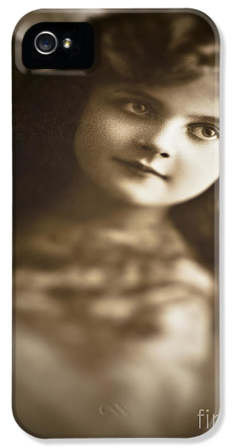 Child IPhone 5 Case featuring the photograph Edwardian Young Girl by Jan Bickerton