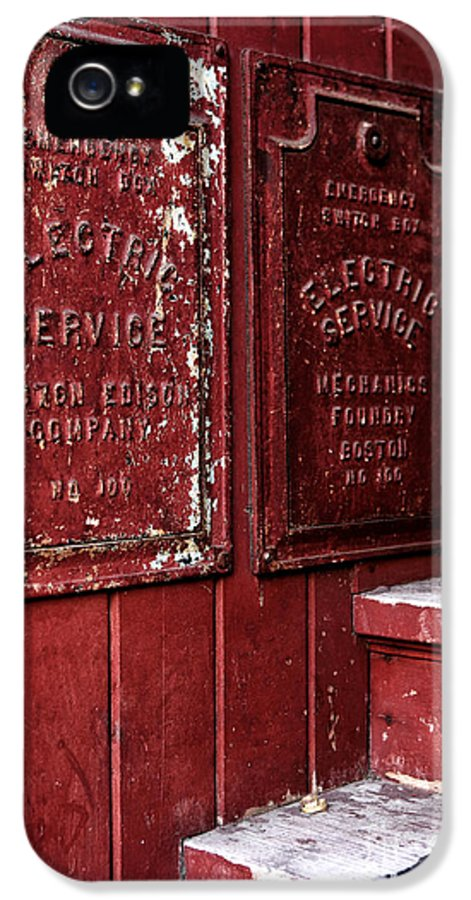 Electric Service In Boston IPhone 5 Case featuring the photograph Electric Service In Boston by John Rizzuto