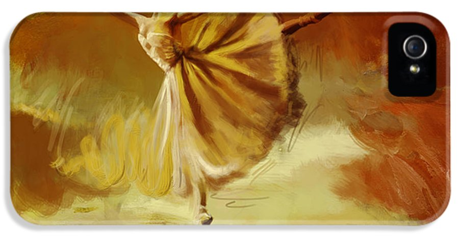 Ballet Dance IPhone 5 Case featuring the painting Elegance by Corporate Art Task Force