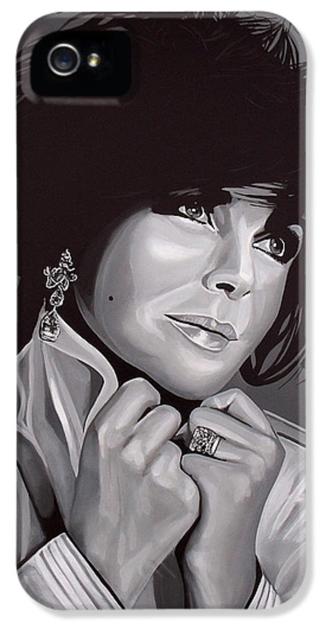 Elizabeth Taylor IPhone 5 Case featuring the painting Elizabeth Taylor by Paul Meijering