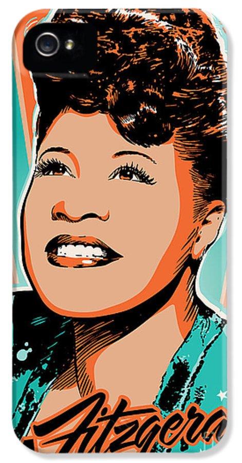 Show Business IPhone 5 Case featuring the digital art Ella Fitzgerald Pop Art by Jim Zahniser