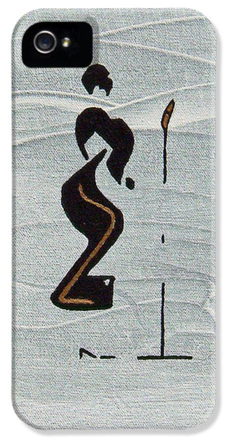 Ella IPhone 5 Case featuring the painting Ella by Michael Tokarski