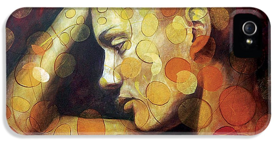 Portrait IPhone 5 Case featuring the painting Emotions by Karina Llergo