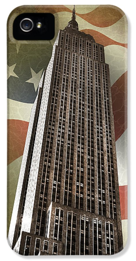 Empire State Building IPhone 5 Case featuring the photograph Empire State Building by Mark Rogan