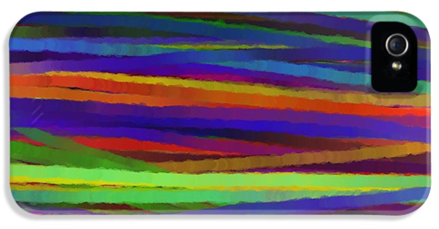 Abstract IPhone 5 Case featuring the painting Encore Que by Sir Josef - Social Critic - Maha Art