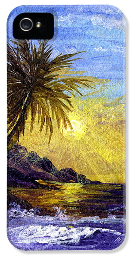 Tropical Island IPhone 5 Case featuring the painting End Of The Day by Darice Machel McGuire