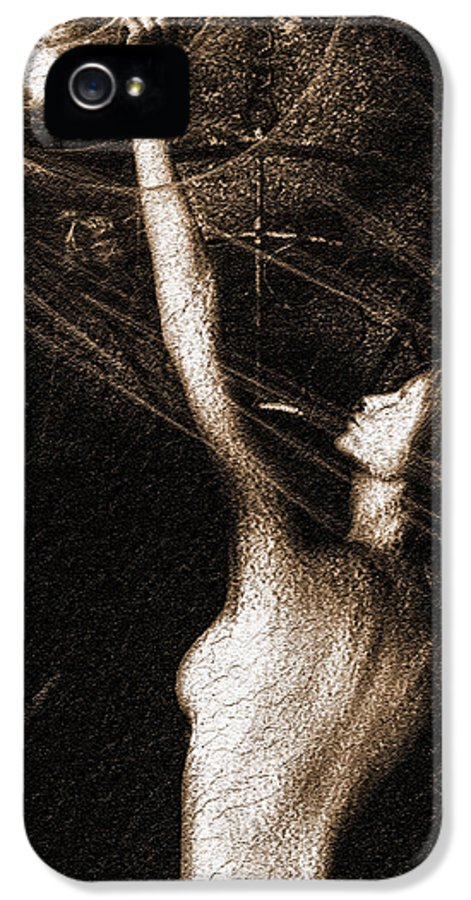 Ghost IPhone 5 Case featuring the photograph Entities Touch by Bob Orsillo