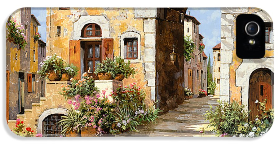 Cityscape IPhone 5 Case featuring the painting Entrata Al Borgo by Guido Borelli