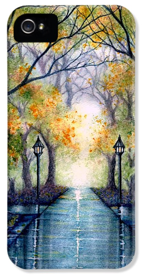 Park IPhone 5 Case featuring the painting Esu The Future Looks Bright by Janine Riley