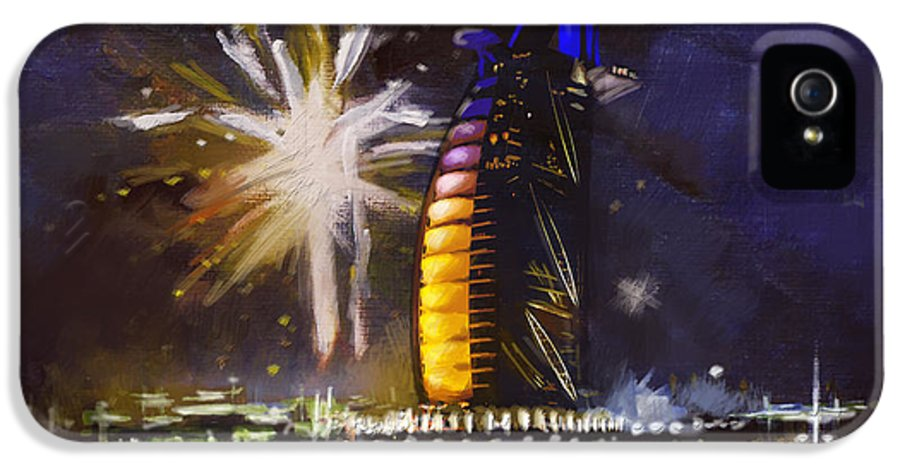 Dubai Expo IPhone 5 Case featuring the painting Expo Celebrations by Corporate Art Task Force