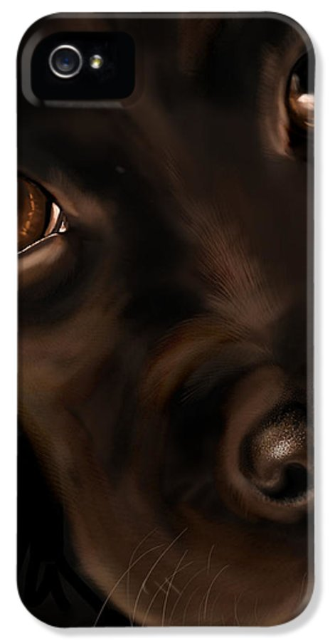 Digital IPhone 5 / 5s Case featuring the painting Eyes by Veronica Minozzi