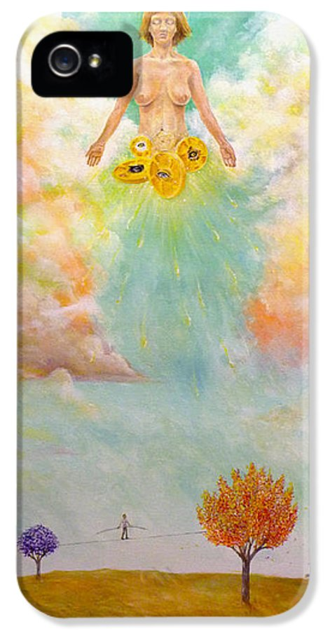 Ezekiel IPhone 5 Case featuring the painting Ezekiel Revisited by James Andrews