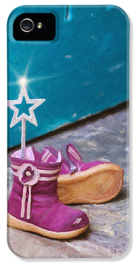 Boots IPhone 5 Case featuring the photograph Fairy At The Door by Tim Gainey