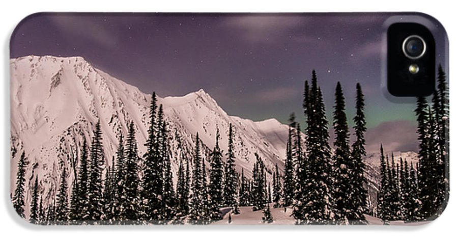 Northern Lights IPhone 5 Case featuring the photograph Fairy Meadows Northern Lights by Ian Stotesbury