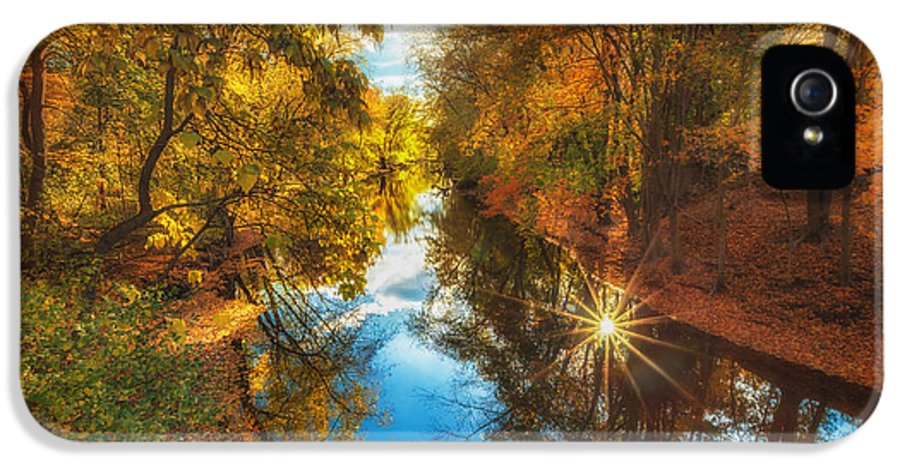 Owed To Nature IPhone 5 Case featuring the photograph Fall Filtered Reflections by Sylvia J Zarco