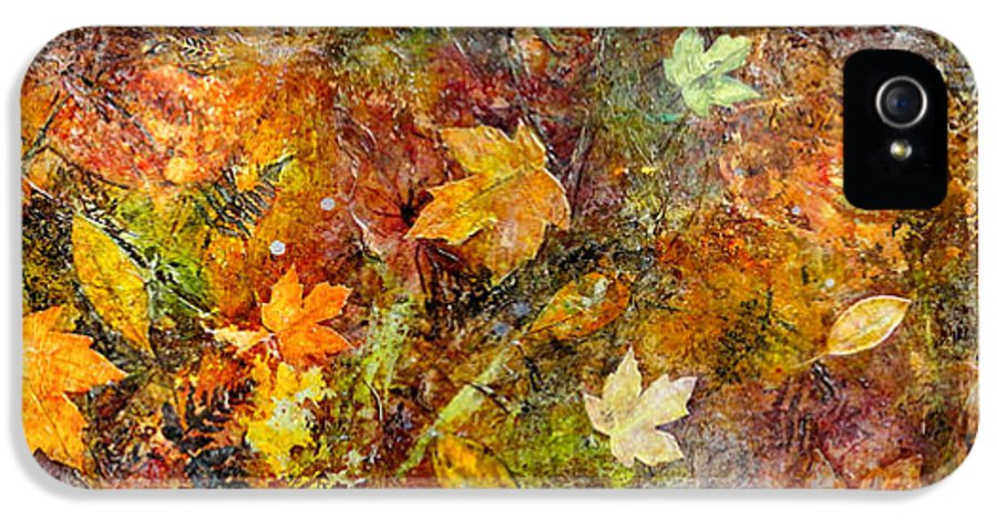 Katie Black IPhone 5 Case featuring the painting Fall by Katie Black