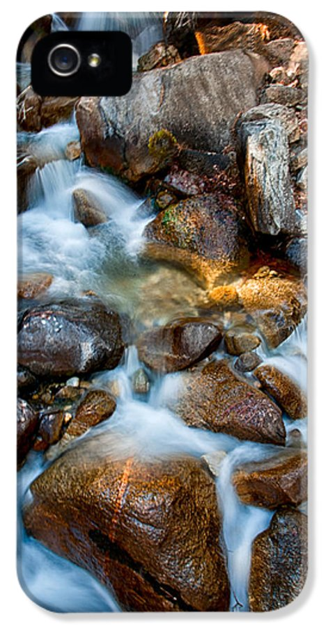 Creek IPhone 5 Case featuring the photograph Falls And Rocks by Cat Connor