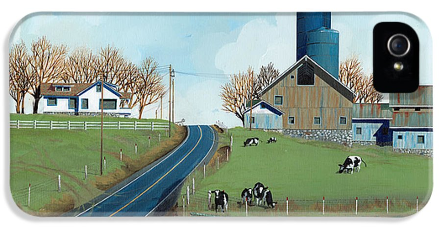 Dairy IPhone 5 Case featuring the painting Family Dairy by John Wyckoff