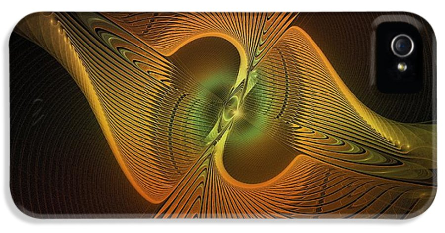 Digital Art IPhone 5 Case featuring the digital art Fanned Out by Amanda Moore