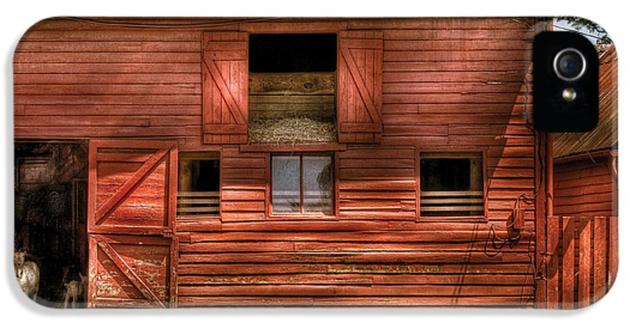 Savad IPhone 5 Case featuring the photograph Farm - Barn - Visiting The Farm by Mike Savad