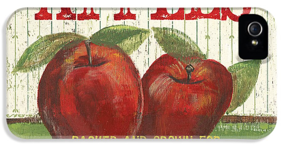 Food IPhone 5 Case featuring the painting Farm Fresh Fruit 3 by Debbie DeWitt
