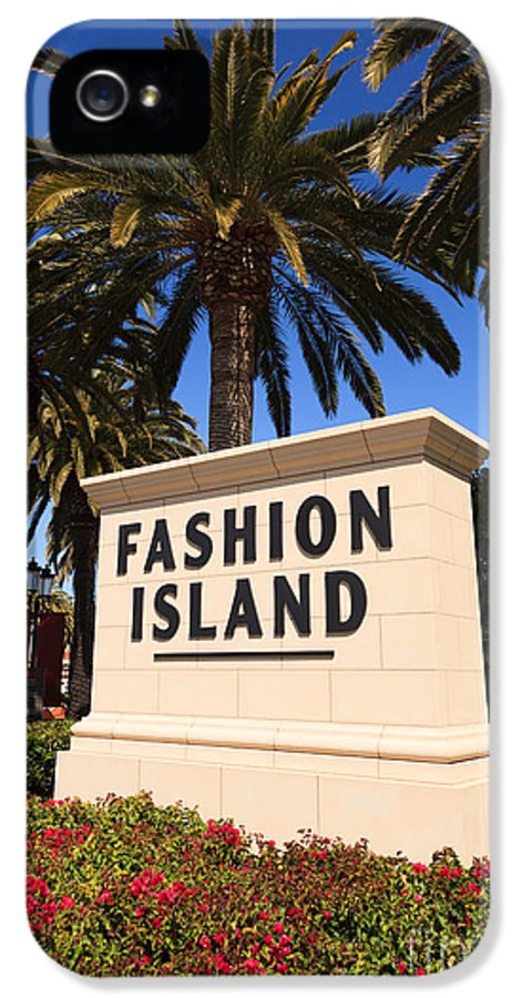 America IPhone 5 Case featuring the photograph Fashion Island Sign In Orange County California by Paul Velgos