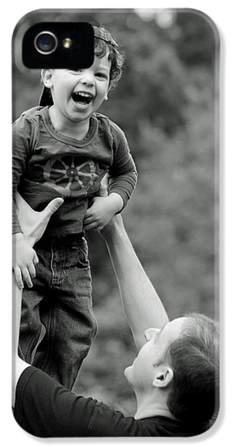 Portraits IPhone 5 Case featuring the photograph Father And Son IIi by Lisa Phillips