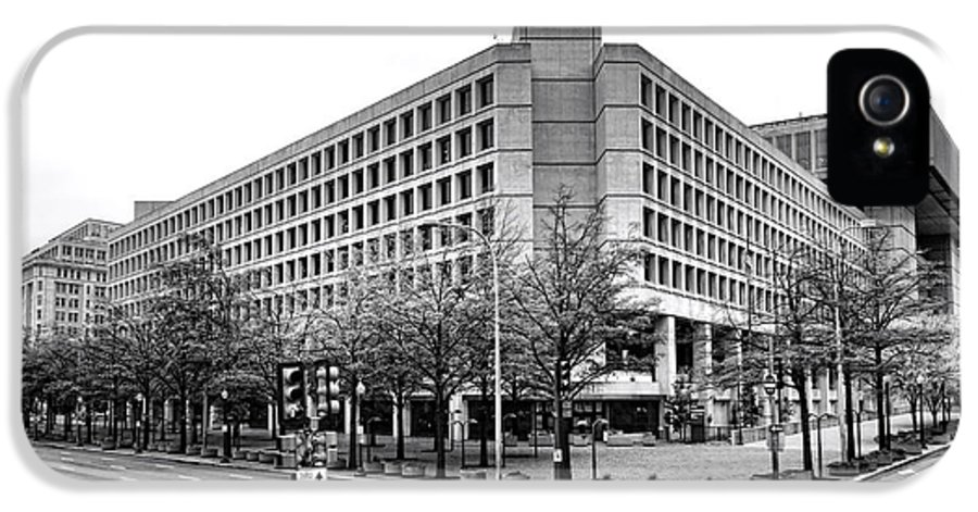 Fbi IPhone 5 Case featuring the photograph Fbi Building Front View by Olivier Le Queinec