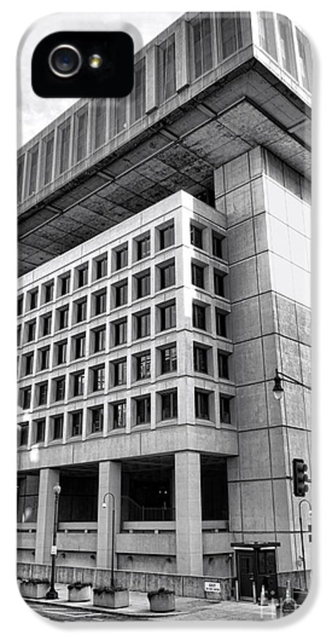 Fbi IPhone 5 Case featuring the photograph Fbi Building Rear View by Olivier Le Queinec