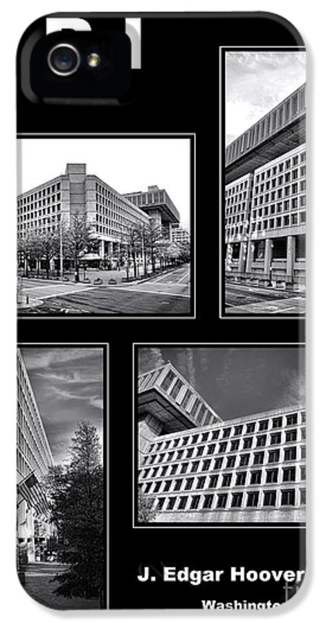 Fbi Poster IPhone 5 Case featuring the photograph Fbi Poster by Olivier Le Queinec