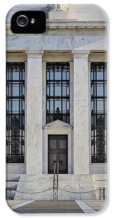 Federal Reserve IPhone 5 Case featuring the photograph Federal Reserve by Susan Candelario